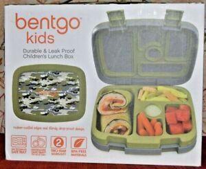 Bentgo Kids Children's Lunch Box 5 Compartments Durable Leak-Proof CAMOUFLAGE