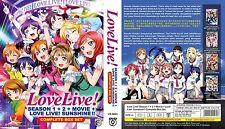 DVD Love Live! School Idol Project Season 1+2 + Movie + Sunshine + Free Gift