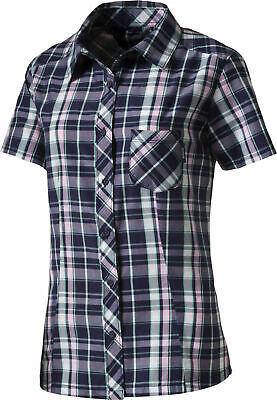 ZuverläSsig Mckinley Damen Freizeithemd Wanderhemd Karo-hemd Atmungsaktive Bluse Aru Blau Gut Verkaufen Auf Der Ganzen Welt