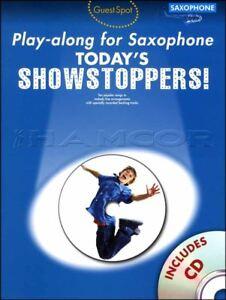 2019 DernièRe Conception Today's Showstoppers Play-along Pour Saxophone Alto-afficher Le Titre D'origine MatéRiaux De Haute Qualité