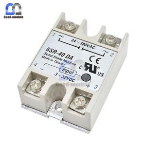 24-480V AC 10A-60A SSR DC-DC AC-AC Solid-State-Relais Halbleiterrelais 3-32V DC