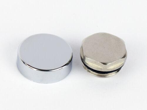 Chrome Cover Cap Blanking plug Valve Heated Towel Rail Radiator Rad Warmer For