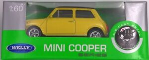 Mini-Cooper-1300-Serie-Maquette-de-Voiture-Auto-Produit-sous-Licence-1-60-Jaune