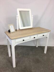 traditional white oak solid wood bedroom dressing table set rh ebay co uk bedroom dressing table sets Wooden Dressing Table