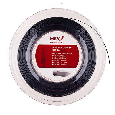 TENNIS STRING MSV FOCUS HEX 4 GAUGES 200M BLACK