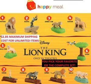 2019 Mcdonalds Disney The Lion King Happy Meal Toys Prices Slashed 1 50 Toys Ebay