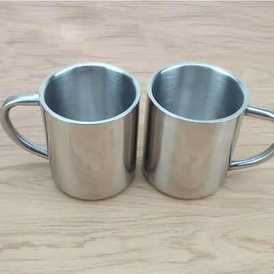 Stainless Steel Double Wall Mug Travel Coffee Tea Milk Cup Heat Insulation