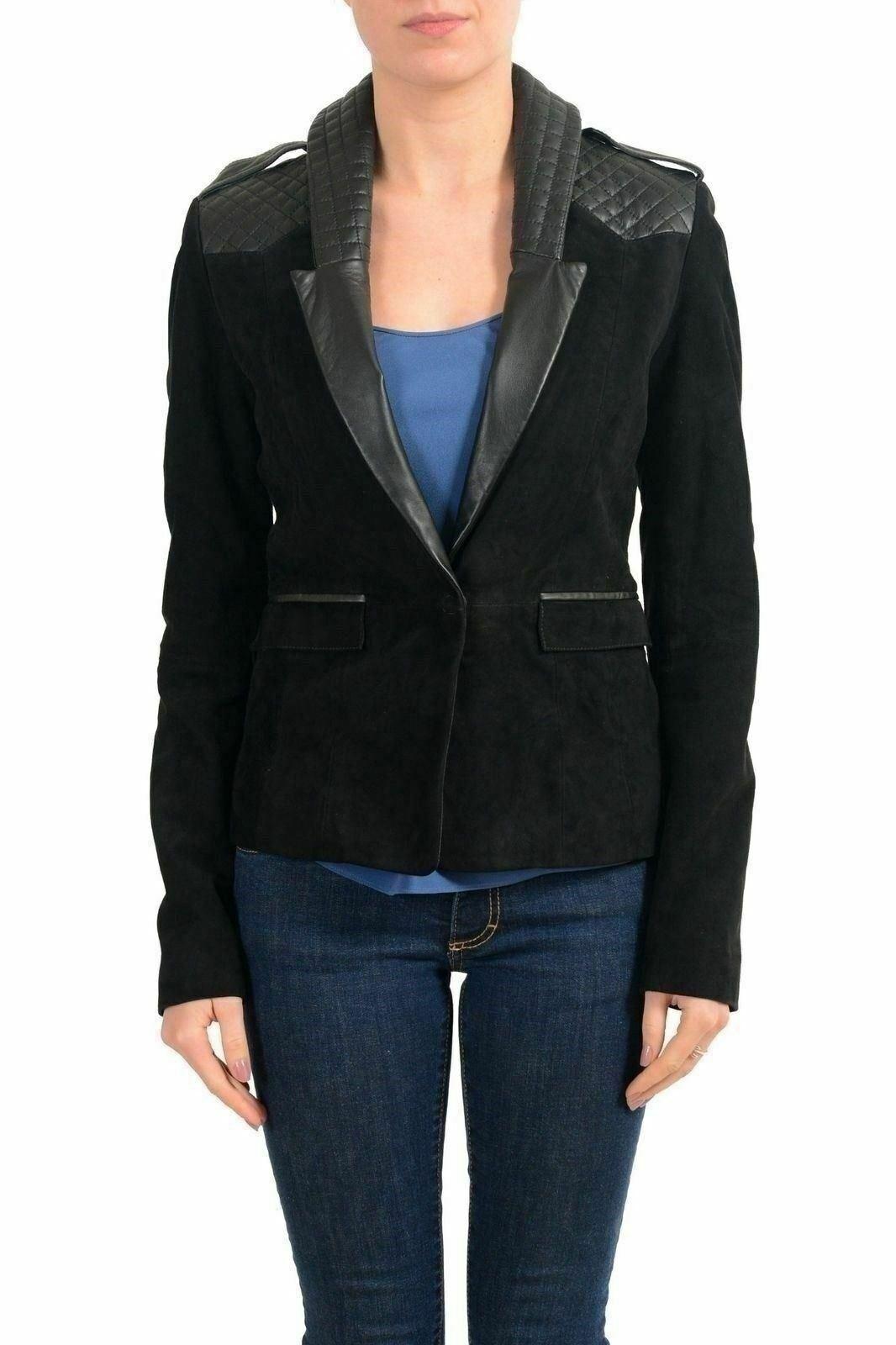 Sólo Cavalli 100% Cuero Negro Chaqueta Blazer para Mujer  nos es todo 40  Compra calidad 100% autentica