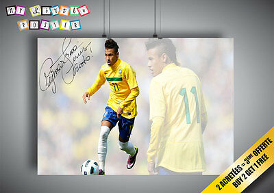 Neymar Jr FC Barcelona Superstar Wall Sticker Art Decal Mural 1409