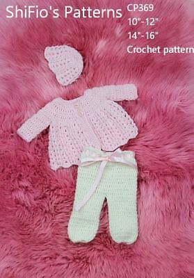 "KNITTING PATTERN for DOLLS BLANKETS 10/""-12/"" /& 14/""-16/"" DOLL #440 NOT CLOTHES"