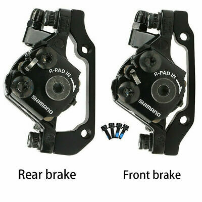 SHIMANO BR-M375 Mechanical Disc Brake Mountain Caliper Pair Set Front+Rear Black