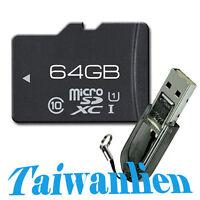 OEM 64GB 64G Class 10 Micro SD MicroSDXC Micro SDXC TF Flash Memory Card + R2