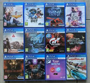 Lot 12 jeux PSVR playstation 4 VR