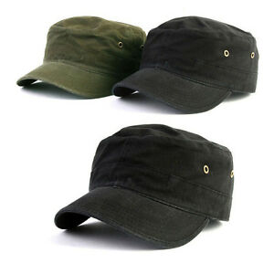 Details about XXL 2XL 62~63Cm Fitted Unisex Mens Womens Cotton Army  Military Cap Cadet Hats 01bac79360a