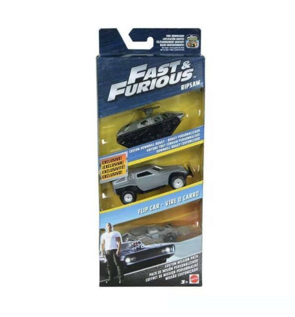 flipcar /& Buggy Fast /& Furioso Diecast 3pk Custom misión Pack-Calza