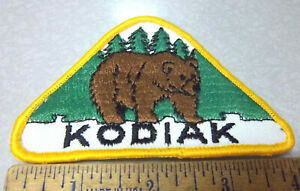 Kodiak-Brown-Bear-Alaska-Beautiful-sew-on-style-Embroidered-patch-hard-to-find