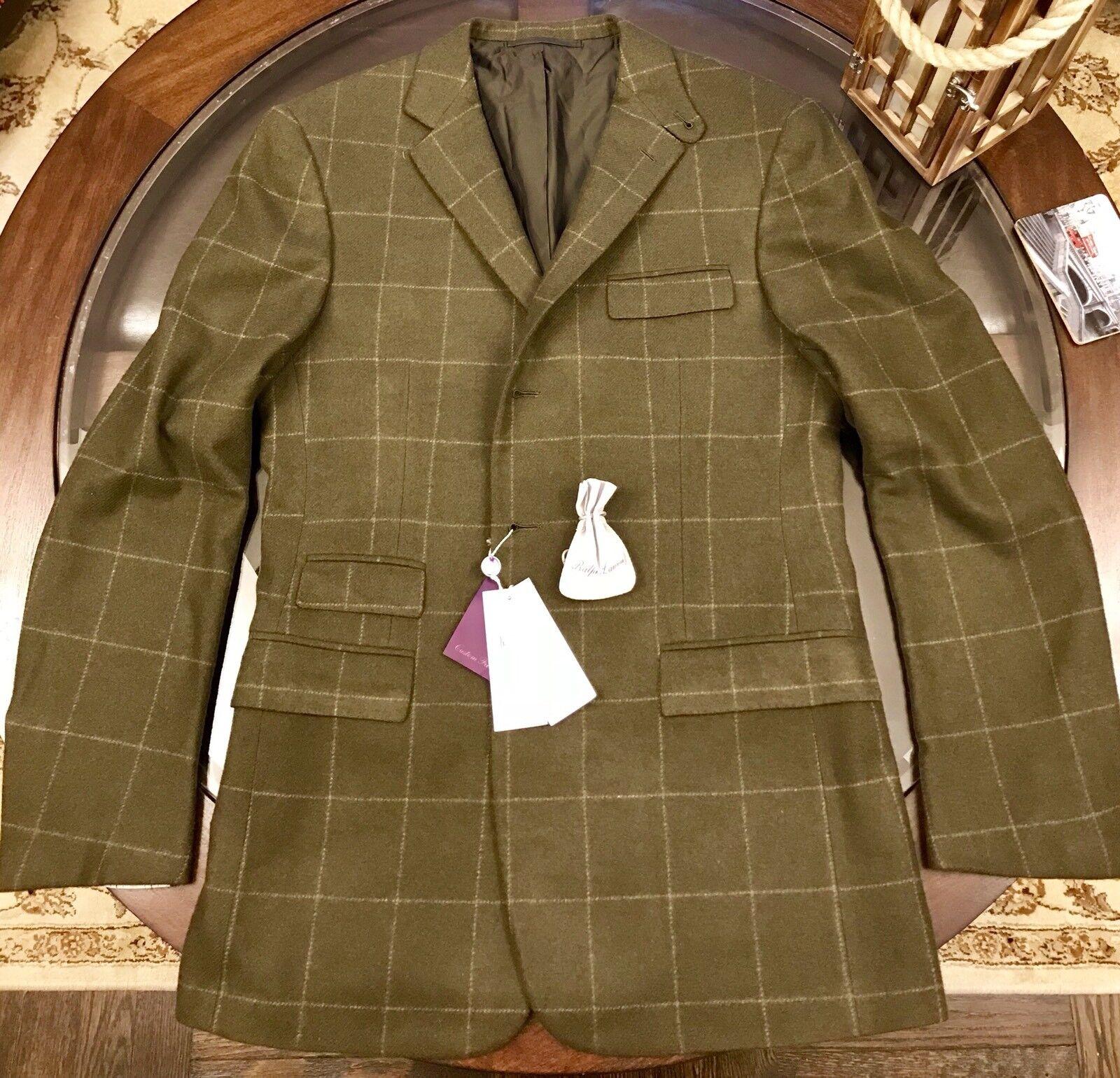 Ralph Lauren lila Label Sport Coat Blazer 100% Cashmere Größe 40 Made In