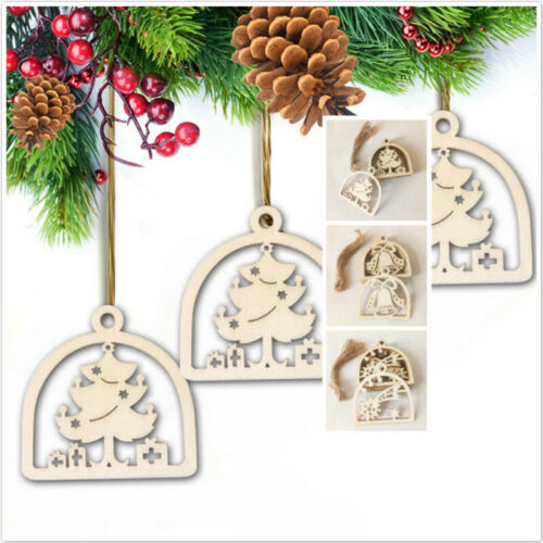 10Pcs Merry Christmas Tree Hanging String Ornament For Xmas Party Festival Decor