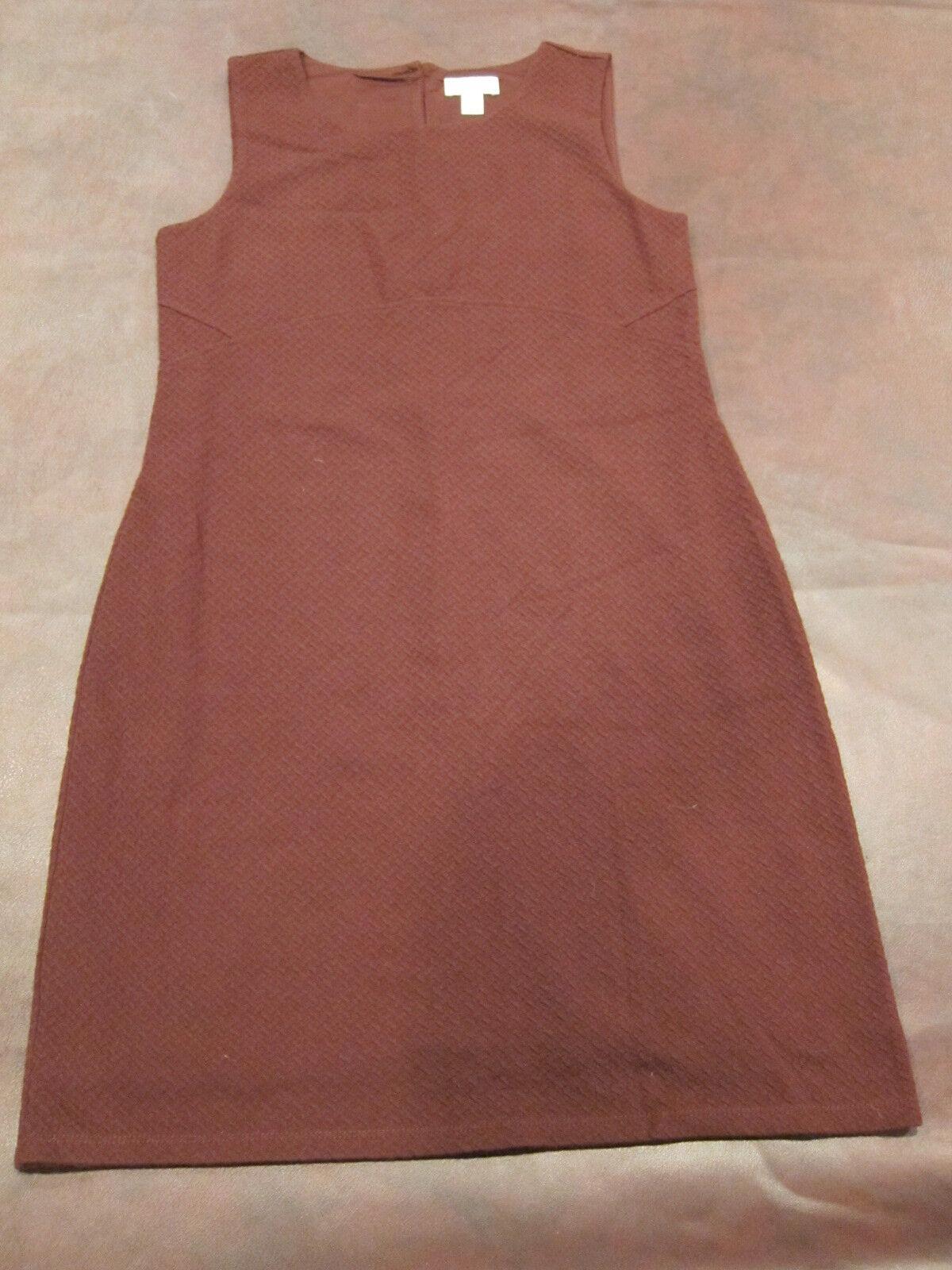 037e081cc153 Ann Taylor LOFT Size M Sleeveless Sheath Dress Maroon Burgundy Jersey Knit
