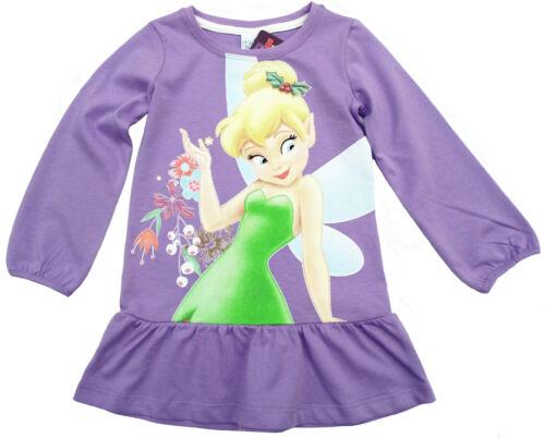 Disney Tinker Bell Kleid Tunika Strandkleid Baumwolle lila 98 104 116 128 Neu