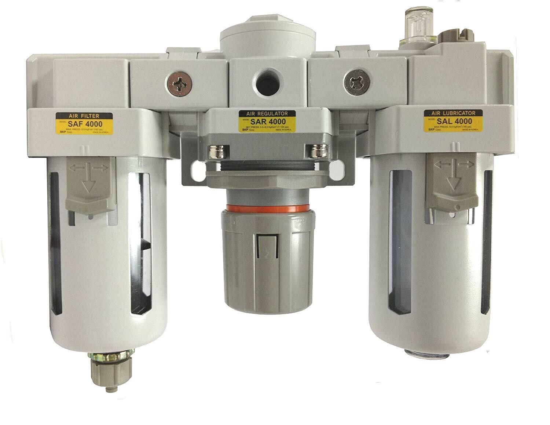 "PneumaticPlus Compressed Air Filter Regulator Lubricator 1//4/"" NPT SAU2010M-N02G"