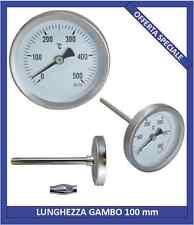 Termometro per forno, forno a legna, barbecue, bimetallico 0-500°C sonda 10cm