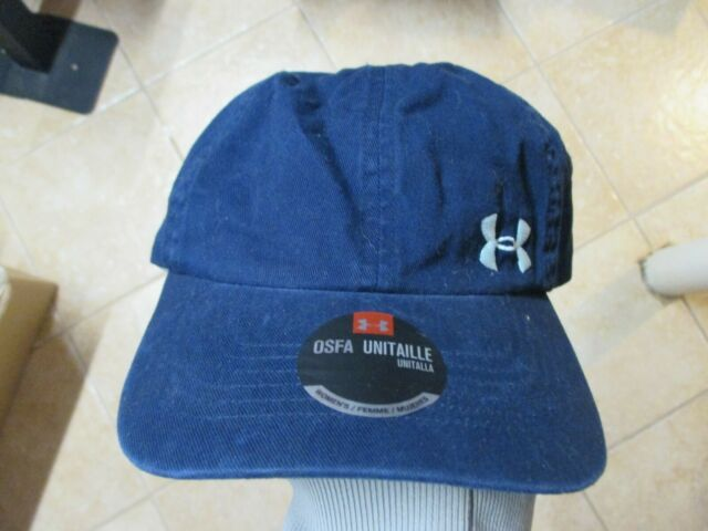 b6fe998a Womens Under Armour Solid Washed Relaxed Fit Hat Cap Navy Blue Running