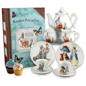 Beatrix Potter Large Child's Tea Set for Two in Custom Storybook Box