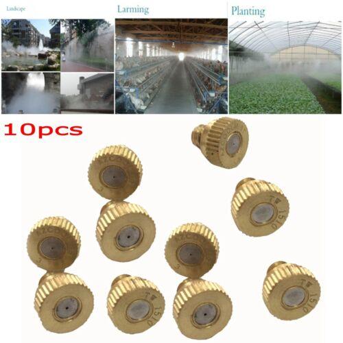 10tlg Messing Sprühdüse Düse Nebeldüse Sprühkühlung Messingspritze Sprinkler Kop