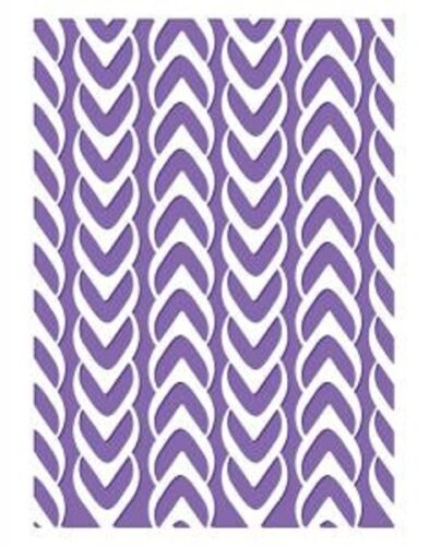 """COUTURE CREATIONS Embossing Folder HARMONY  COLLECTION 5/"""" X 7/"""" SALE CLEARANCE"""