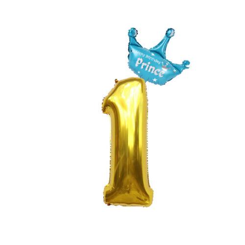 1st Geburtstag Helium Folien Ballon 1 Jahre alte Blau Gold erste XXL Junge Party