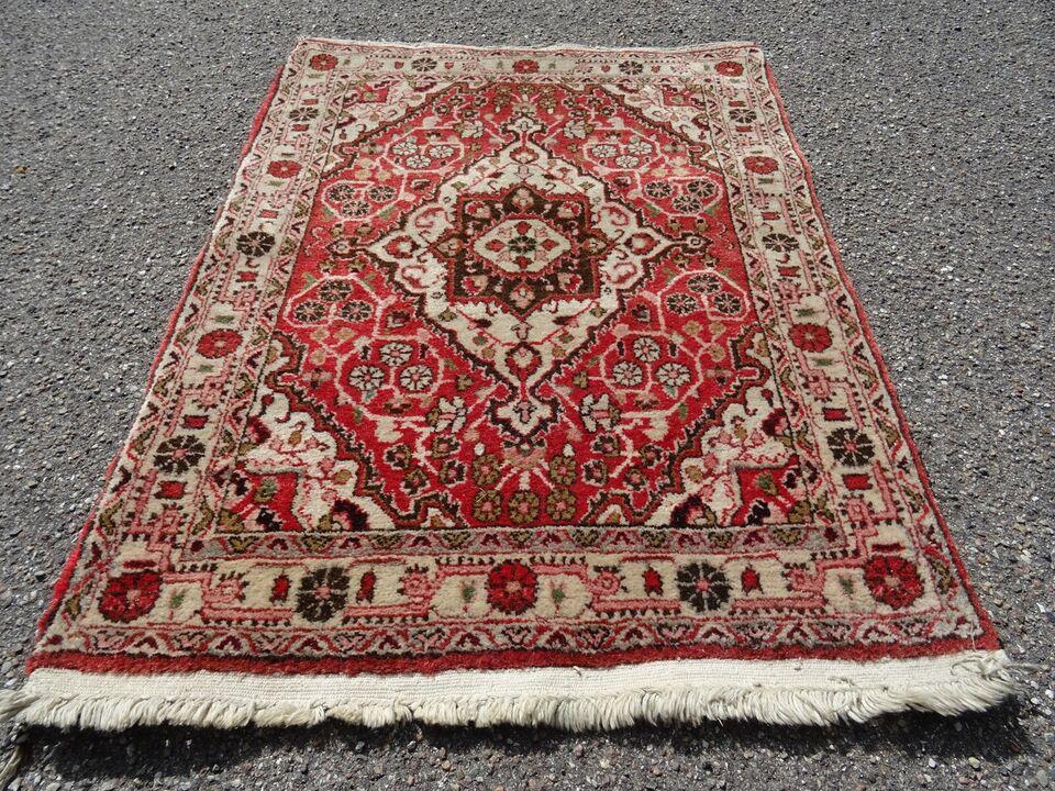 Gulvtæppe, ægte tæppe, uld på bomuld