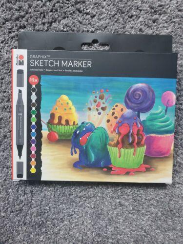 Marabu Graphix Sketch Marker Dual Tip Markers 12pk