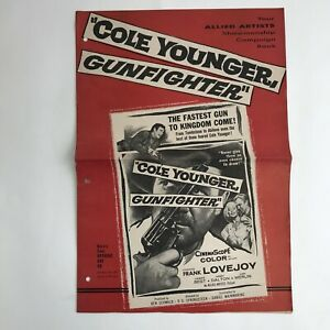 Vintage-Movie-Pressbook-Cole-Younger-Gunfighter-Frank-Lovejoy-1958-Allied-Artist