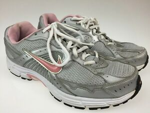 10c19e8b71deb Nike Dart 7 VII Womens White Grey Pink Running Shoes Size 9.5