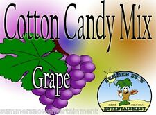 Grape Cotton Candy Flavor Mix With Sugar Flavoring Flossine Flavored Fairy Floss