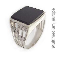 Art Deco Designer Silber Ring Onyx 835 um 1930 silver ring 30s 30er Jahre