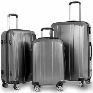 GLOBALWAY-20-034-24-034-28-034-3Pc-Luggage-Set-ABS-PC-Trolley-Suitcase-Spinner-w-TSA-Lock