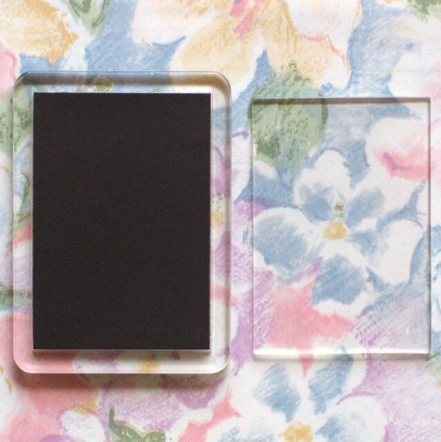 2x Blank Acrylic Fridge Magnets 50x35mm Photo Size & 60x44mm Frame Size F1443