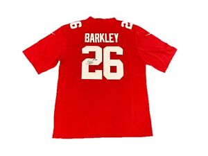 best website 9bcb9 26323 Details about Saquon Barkley New York Giants (Alternate Red) Signed Jersey  JSA