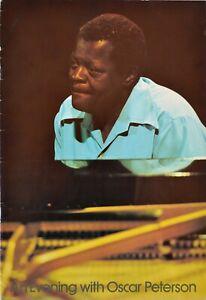 Oscar Peterson 1978 ORIGINAL UK tour program Jazz