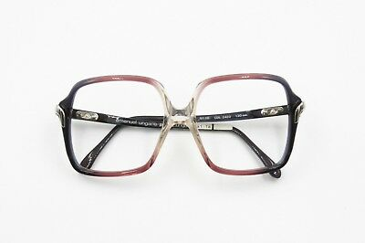Emanuel Ungaro Paris Vintage 1980s Square Acetate & Metal Frame, Tricolor Shaded