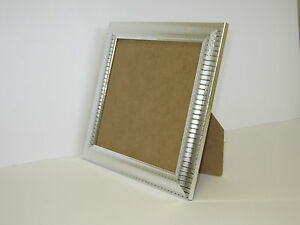 Details About Two Tone Silver 6x6 Square Picture Photo Frame Free Standing