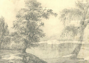 Mary Anne Baignis - c.1825 Graphite Drawing, The Castle by the Lake