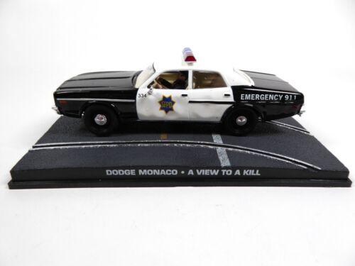 Dodge Monaco Police James Bond 007-1:43 Diecast Modellauto DY055