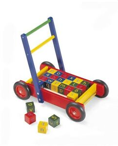 TIDLO-WOODEN-BABY-WALKER-WITH-ABC-BLOCKS-FREE-Delivery-Available
