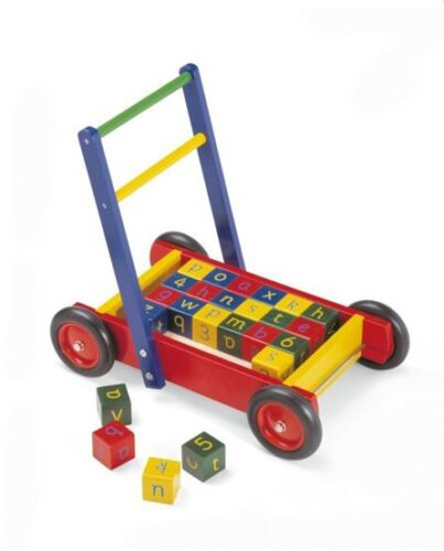 FREE Delivery Available TIDLO WOODEN BABY WALKER WITH ABC BLOCKS