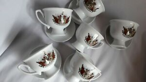 Hendricks-Gin-6-Cups-5-Saucers-All-6-Newsies-Excellent