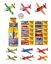 Flying planeadores Jet Fighters Chicos Fiesta Loot Bolsa Relleno Juguete Aviones Lote R20001 Reino Unido