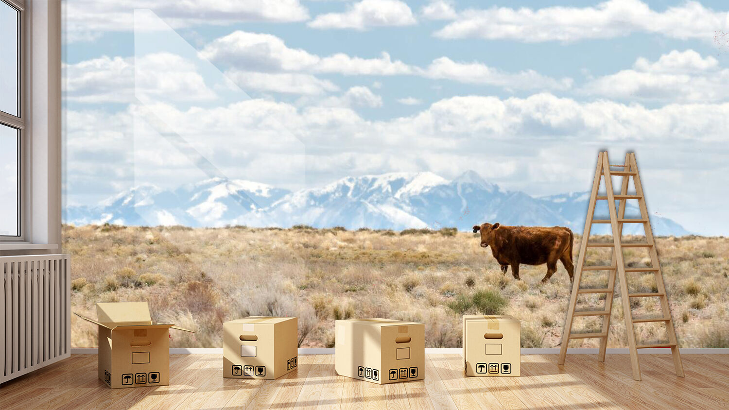 3D Cattle fields 3655 Wall Paper Wall Print Decal Wall Indoor AJ Wall Paper